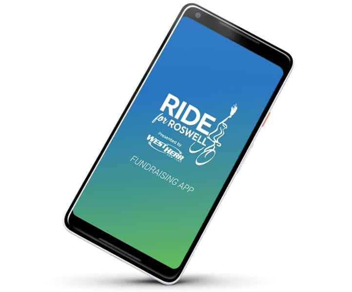 Get the New Ride for Roswell Fundraising App